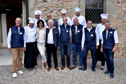 L'équipe de Payerne - La Broye avec Mme la Conseillère d'Etat et rotarienne Christelle Luisier Brodard et à ses côtés notre gouverneur Blaise Matthey